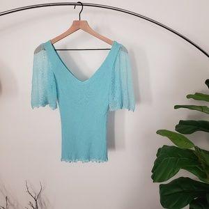 Trina Turk Turquoise Top